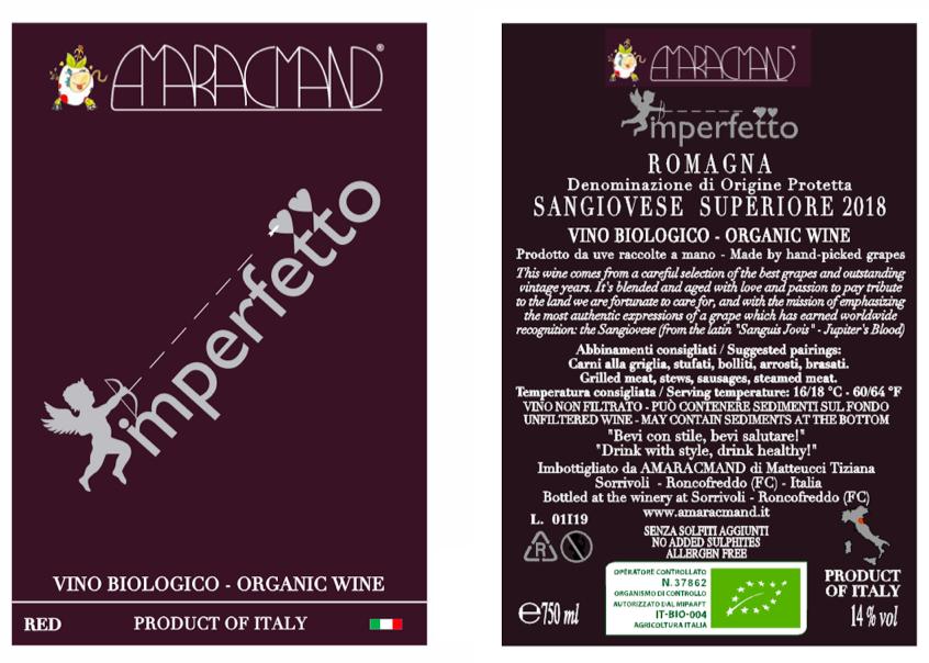 Amaracmand Imperfetto label