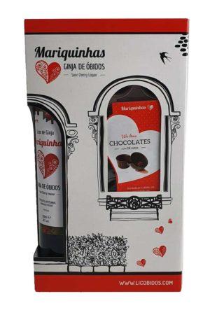 Ginja de Obidos in geschenkverpakking met chocoladecupjes