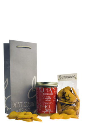 Panettone Asinello No.1 met Panpavesi koekes als cadeau