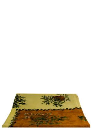 Italiaans tafelkleed terra/beige