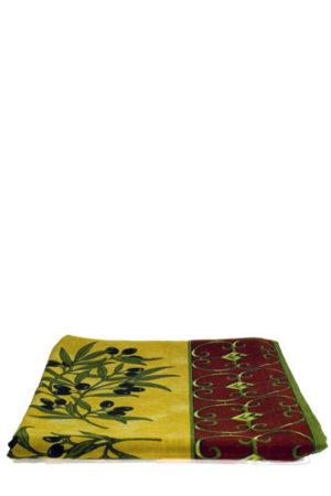 Italie-Tafelkleed-rechthoekig-Olijven-rood-geel.