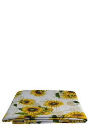 Italiaans tafelkleed met zonnebloemen motief