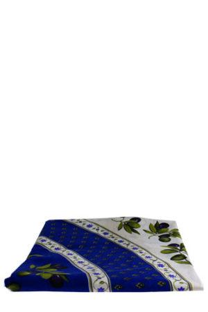 Italie-Tafelkleed-rond-Olijven-Beige-Blauw